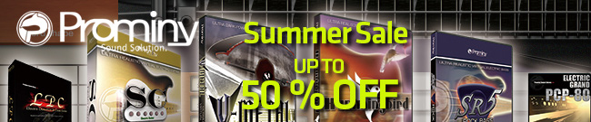 Banner Prominy Summer Sale
