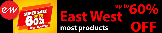 Banner East West November Super Sale up to 60% OFF