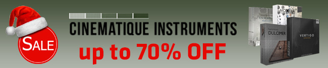 Banner Cinematique Instruments Christmas Sale