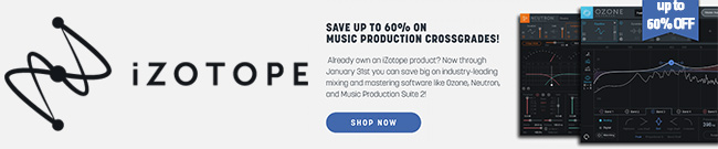 Banner iZotope Music production crossgrade offers