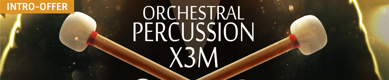 Banner Orchestral Percussion X3M Intro Offer