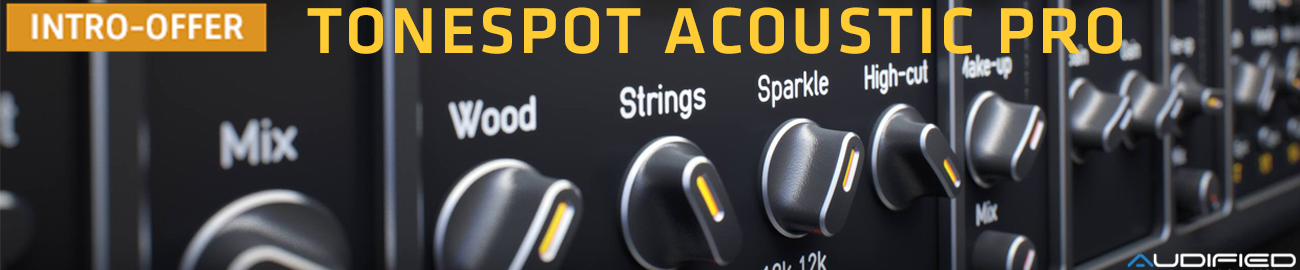 Banner Audified ToneSpot Acoustic Pro Intro Offer