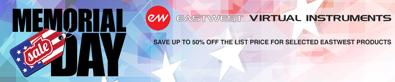 Banner East West Memorial Day Sale 50% OFF