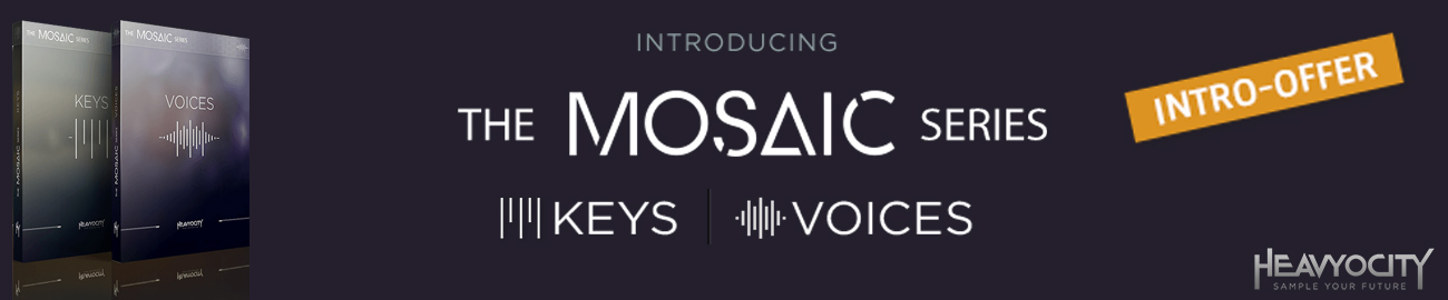 Banner Heavyocity Mosaic Series Intro Offer