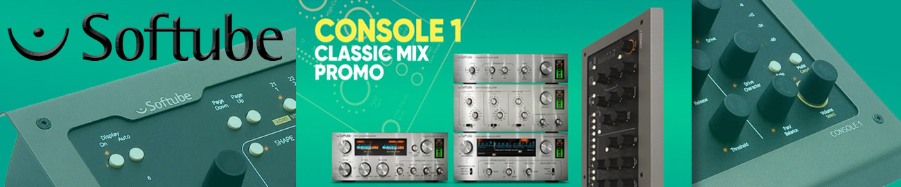 Banner Softube Console 1 - Classic Mix Promo