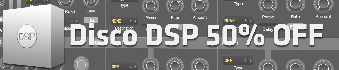 Banner DiscoDSP 50% OFF
