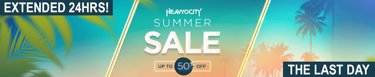 Banner Heavyocity Summer Sale 50% OFF