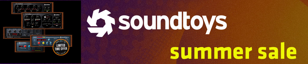 Banner Soundtoys Summer Sale - up to 60% OFF