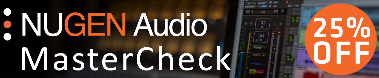 Banner Nugen Audio - 25% off MasterCheck