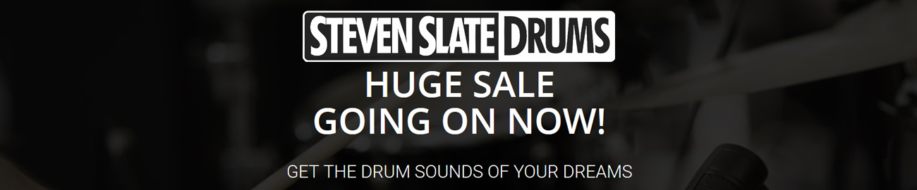 Banner Steven Slate Drums - Huge Sale -  up to 67% OFF