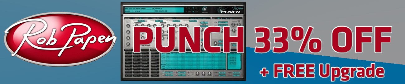 Banner Rob Papen PUNCH 33% OFF