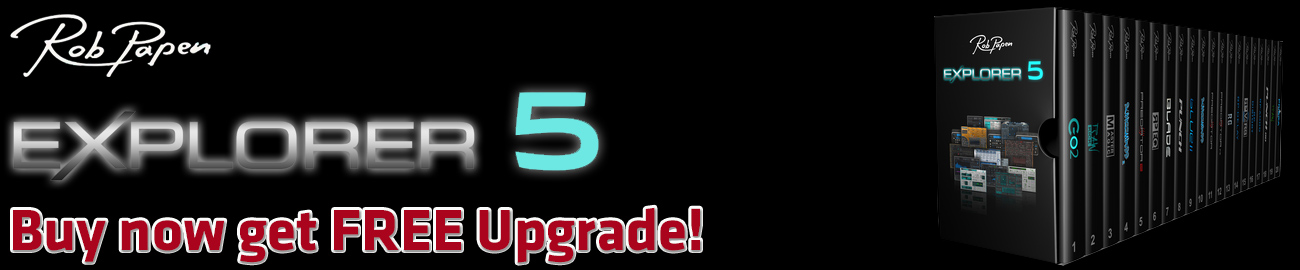 Banner Rob Papen eXplorer Free Upgrade