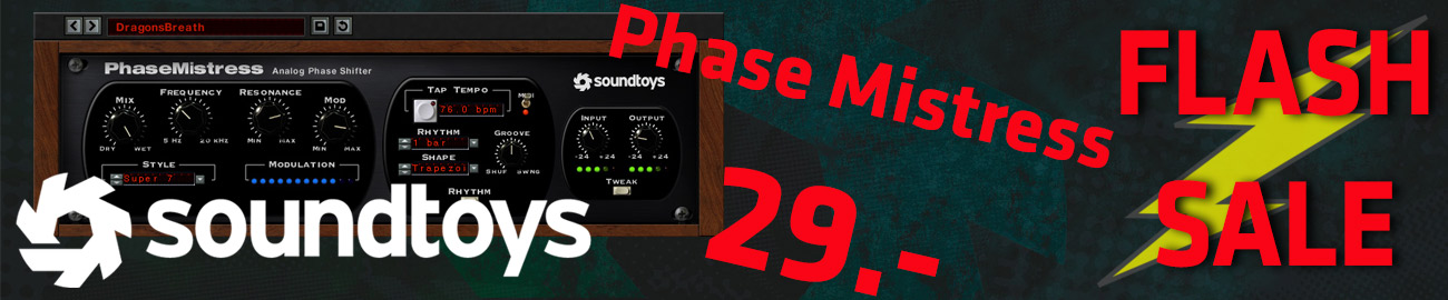 Banner Soundtoys PhaseMistress Flash Sale
